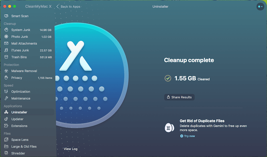 CleanMyMac X - Mac Apps Uninstaller