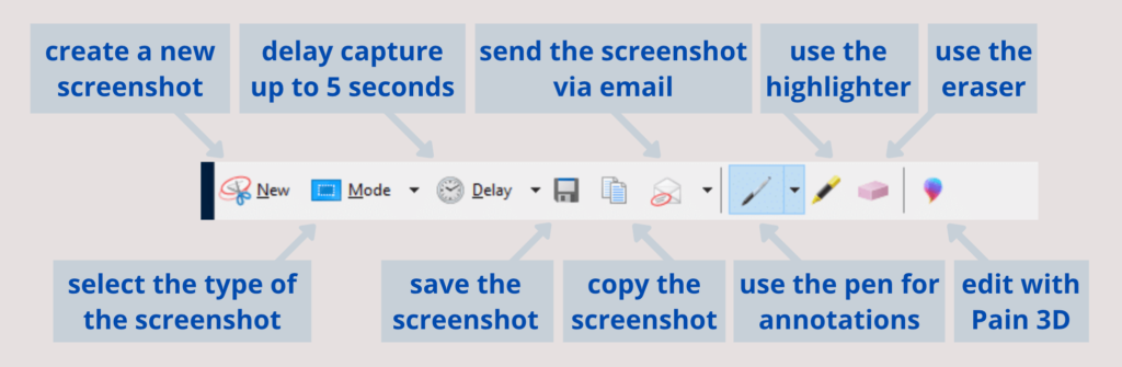 how to take a screenshot on windows 10 with snipping tool