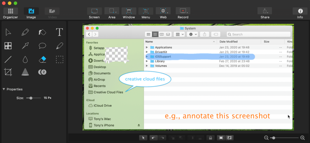 capto review - screenshot annotation