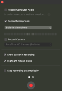 start recording Mac screen with Capto application